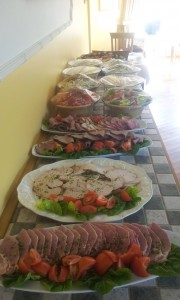 Cold meat Buffee ready to go